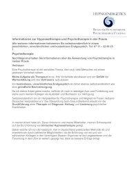 und Psychotherapie mit D. Antunovic - Netzwerk Sexualtherapie