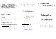 Heilpraktiker Flyer - Praxis für Psychotherapie Tolga Sahin