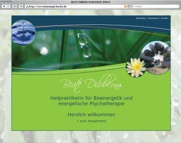 Heilpraktikerin für Bioenergetik und energetische Psychotherapie ...