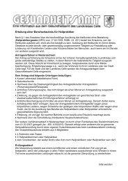 Erteilung einer Berufserlaubnis für Heilpraktiker - Landkreis Celle