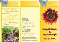 Heilpraktikerin Psychotherapie - Hypnosetherapie Psychotherapie ...