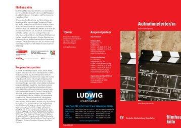 babe Aufnahmeleiter/in filmhaus köln - Kölner Filmhaus