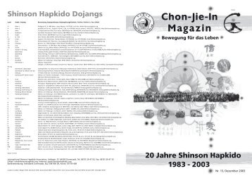 Chon-Jie-In Magazin - Shinson Hapkido