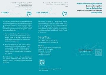 PDF Flyer Ralf Hanke - Praxis Hanke