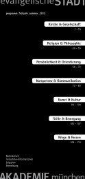 Das Programm Frühjahr_Sommer 2013 - Evangelische ...