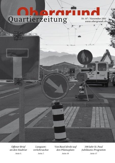 Quartierzeitung, Nr. 97-2011 - Obergrund