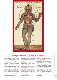Die Signaturenlehre in der Paracelsusmedizin