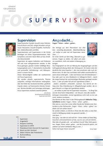 supervision der EKvW - Evangelische Kirche von Westfalen