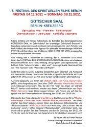 5. festival des spirituellen films berlin - Kino am Ufer