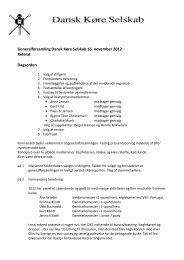 Generalforsamling Dansk Køre Selskab 16. november 2012 Referat ...