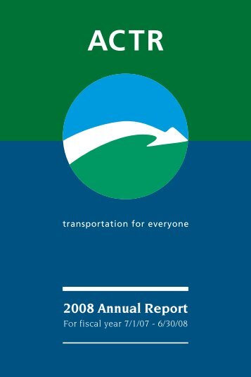 Annual Report FY08 - Addison County Transit Resources