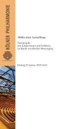Bilder einer Ausstellung - Kölner Philharmonie