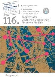 Kongress der Deutschen Gesellschaft für Innere Medizin - DGIM 2010