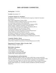 Advisory Committee Meeting Minutes - Bureau of Security and