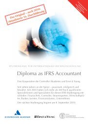 Diploma as IFRS Accountant - Home - Ernst & Young - Schweiz