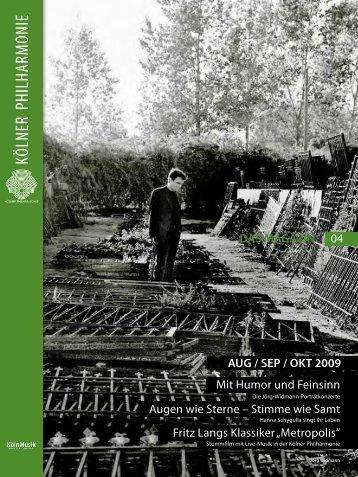 das magazin 08/09 2009 - Kölner Philharmonie