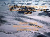 Cold Regions Hydrology and its Relevance - University of ...