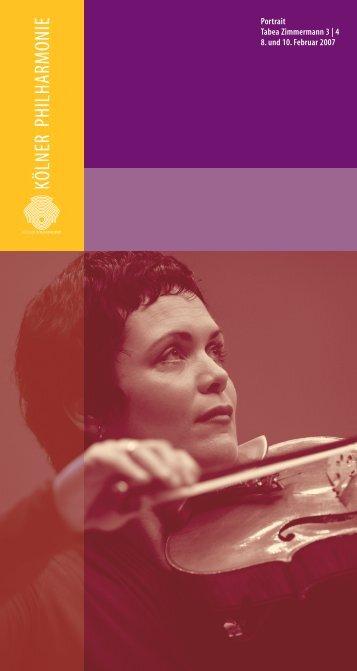 Portrait Tabea Zimmermann 3  - Kölner Philharmonie