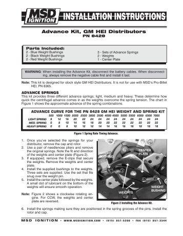 msd pro billet distributor instructions