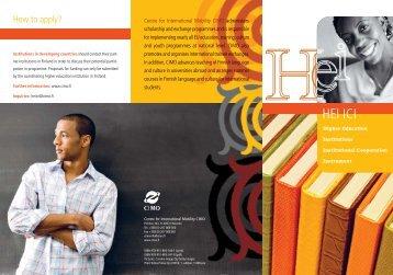 HEI ICI Programme Brochure 2010-2012 - Cimo