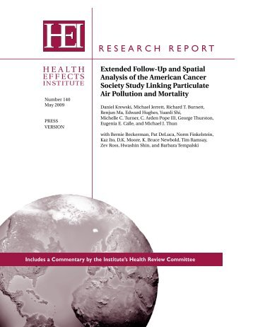 HEI Research Report 140 - National Environmental Public Health ...
