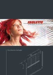 Das Jalousien-Isolierglas - Isolette