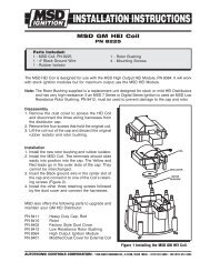 msd 8225 ignition coil installation instructions - jegs