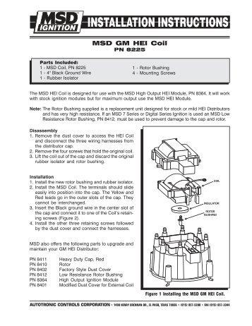 msd 8737 rpm module selector installation instructions jegs rh yumpu com Chevy HEI Distributor Wiring Diagram 3 Wire Distributor Wiring Diagram