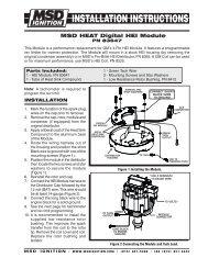 Msd heat digital hei module pn 83647 - Speedway Motors