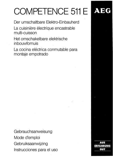 Competence 511 E Aeg Electrolux Ui Com