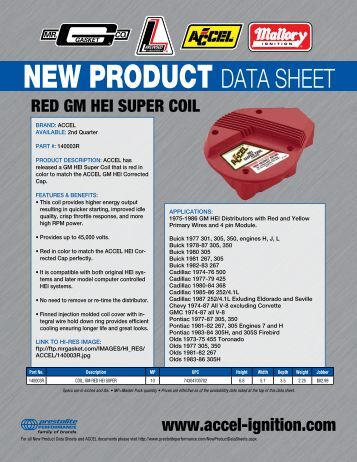 ACCEL Red GM HEI Super Coil 140003R