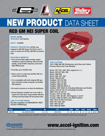 ACCEL Red GM HEI Super Coil 140003R