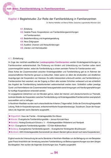 Kapitel 4 - Familienbildung in NRW