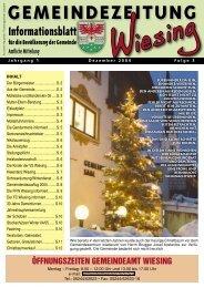 3. Ausgabe der Gemeindezeitung (0 bytes) - Gemeinde Wiesing
