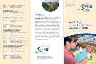 Gynäkologie und Geburtshilfe Angebote 2010 - Kkrn
