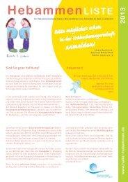 Hebammenliste 2013 - Hebammenverband Schwäbisch Hall ...