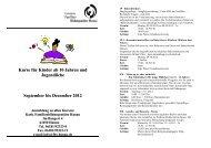 Kurse für Kinder ab 10 Jahren und Jugendliche September bis ...