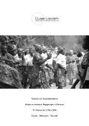 Textbuch zur Auslandsakademie Afrique en ... - Cusanuswerk