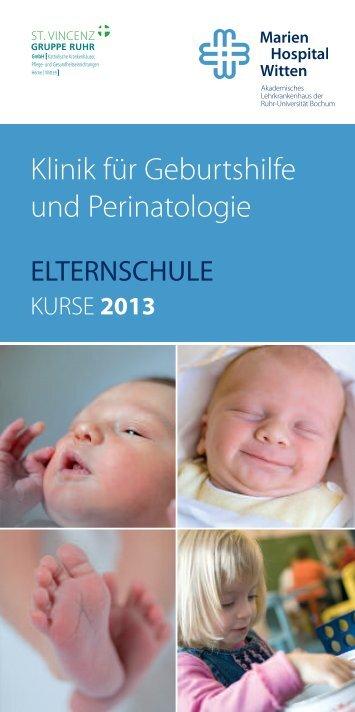 Elternschule Kurse 2013 - Marien-Hospital Witten