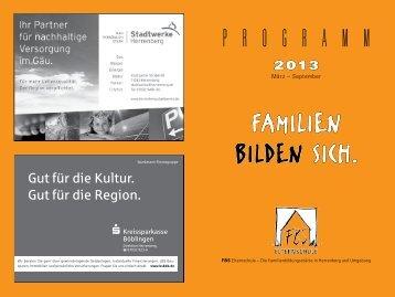 das neue FBS-Programm 2013 - Familienbildungsstätte Herrenberg