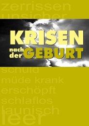 Broschüre A6 Bamberg - Krise nach der Geburt