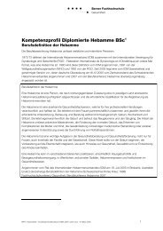Kompetenzprofil Hebamme BSc - Gesundheit - Berner ...
