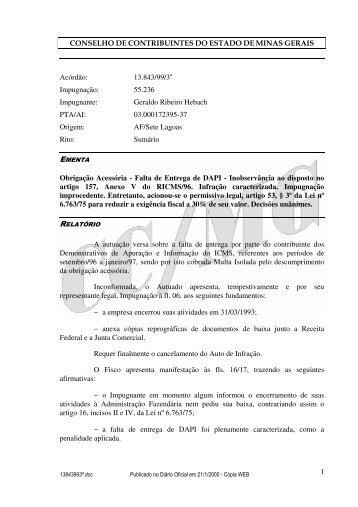 Microsoft Word - 13843993\252.doc - Secretaria de Estado de ...