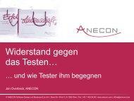 ANECON Testen