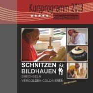 SCHNITZEN - Schnitzschule Geisler-Moroder