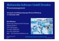 Multimedia Software GmbH Dresden - Gesellschaft für Informatik ...