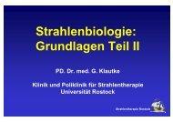 Strahlenbiologie: Grundlagen Teil II - Strahlentherapie - Universität ...