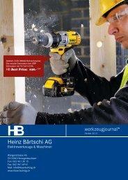 Werkzeugjournal Herbst 2012 - HB Heinz Bärtschi AG