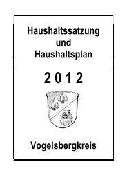 Doppischer Haushalt 2012 - Vogelsbergkreis