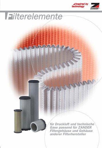 ZANDER-Filterelemente